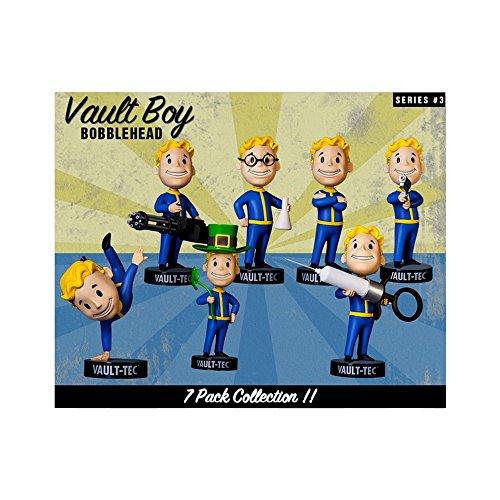 Fallout 4 5 Vault Boy Bobblehead Figure Complete Series 3 7-Pack Set