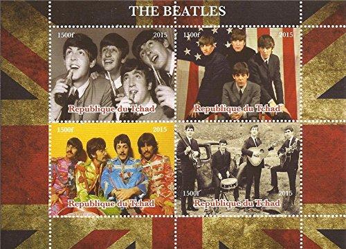2015 The Beatles-John Paul George Ringo - 4 Stamp Sheet - 3B-359