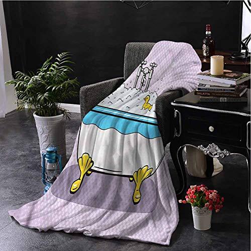 Luoiaax Comics Childrens Blanket Superhero Bubble Bath Lightweight Soft Warm and Comfortable W91 x L60 Inch