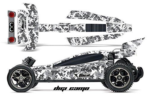Designer Decal for Traxxas Bandit VXL 110 2407L AMRRACING RC Kit - Digicamo - White