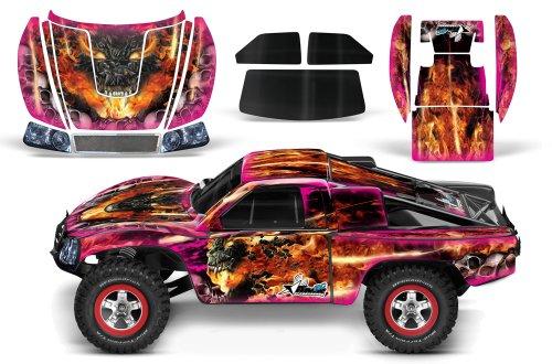 Designer Decal for Traxxas Slash 110 58034 and Slayer 110 59074 AMRRACING RC Kit - Firestorm - Pink