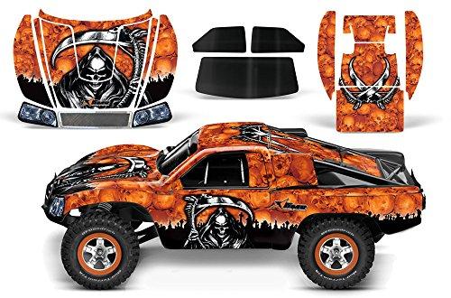 Designer Decal for Traxxas Slash 110 58034 and Slayer 110 59074 AMRRACING RC Kit - Reaper - Orange