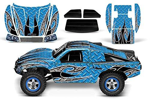 Designer Decal for Traxxas Slash 110 58034 and Slayer 110 59074 AMRRACING RC Kit - Tribal Flames - BlackBlue