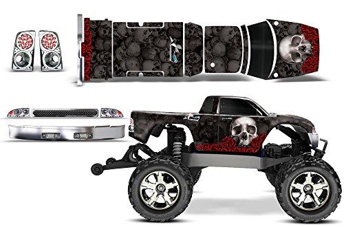 Designer Decal for Traxxas Stampede VXL 110 3607L AMRRACING RC Kit - Bones - Black