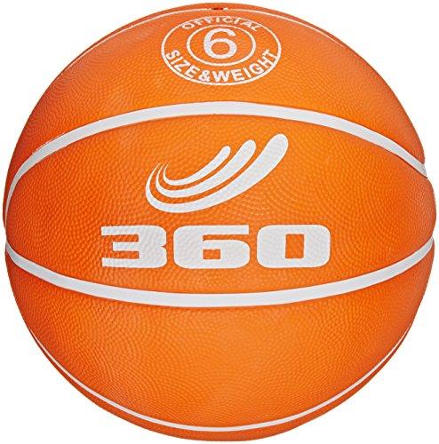 360 Athletics Playground Rubber Basketball Size 6 Orange