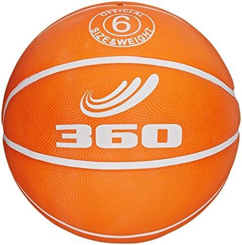 360 Athletics Playground Rubber Basketball Size 6 Orange by 360 Athletics