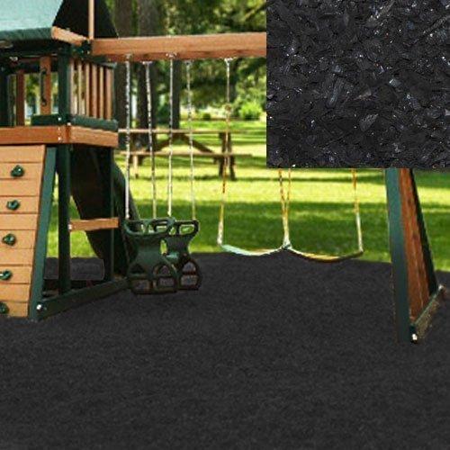 Swing Set Playground Rubber Mulch 75 CuFt Pallet-Black