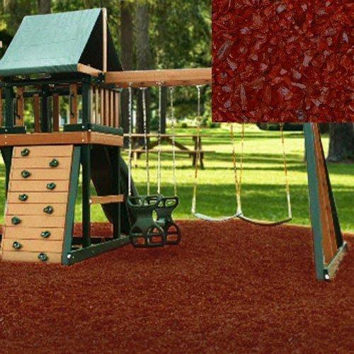 Swing Set Playground Rubber Mulch 75 CuFt Pallet-Brick Red by KIDWISE