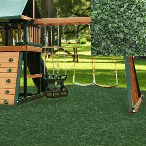 Swing Set Playground Rubber Mulch 75 CuFt Pallet-Forest Green
