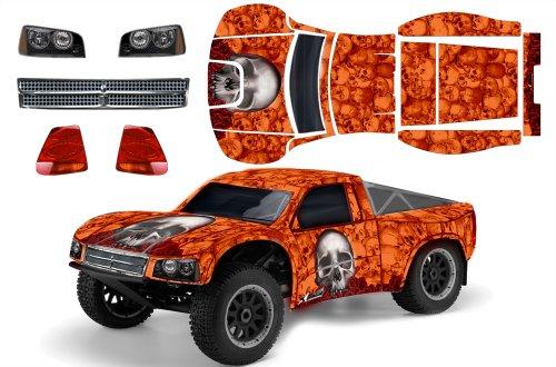 Designer Decal for Losi TEN-SCTE 110 LOSB8028 AMRRACING RC Kit - Bones - Orange