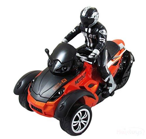 HAK142 MotoHawk Multi-Functional 3 Wheeled ATV Ready-to-Run RC Motorcycle w LED Headlights