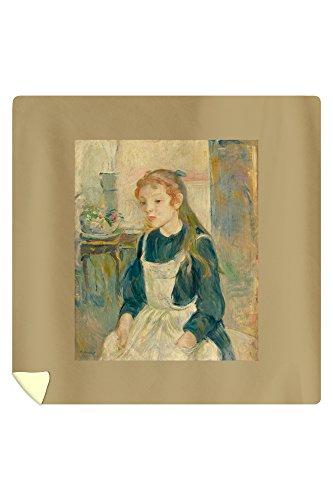 Young Girl with an Apron - Masterpiece Classic - Artist Berthe Morisot c 1891 88x88 Queen Microfiber Duvet Cover
