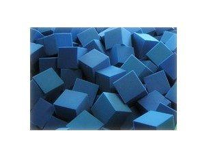 Foam CubesBlocks 168 pcs Blue 6x6x6 1536 Flame Retardant Pit Foam Blocks For Skateboard Parks Gymnastics Companies and Trampoline Arenas
