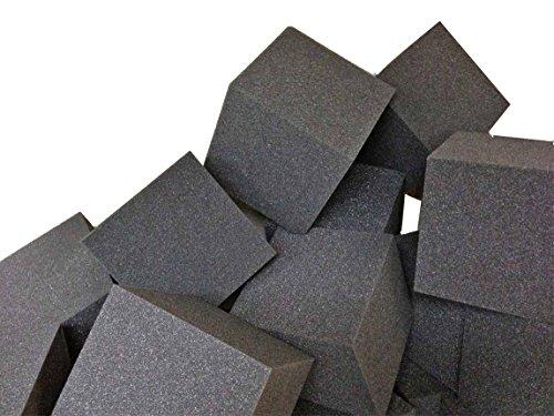 Foam CubesBlocks 250 pcs Charcoal 5x5x5 1546 Flame Retardant Pit Foam Blocks For Skateboard Parks Gymnastics Companies and Trampoline Arenas