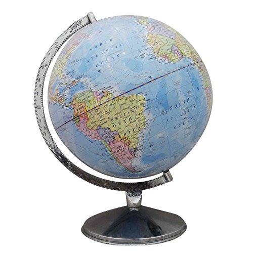 Big Rotating Desktop Blue Ocean Globe World Earth Geography Table Décor 163