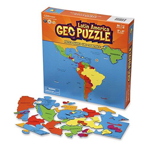 GeoPuzzle Latin America - Educational Geography Jigsaw Puzzle 50 pcs