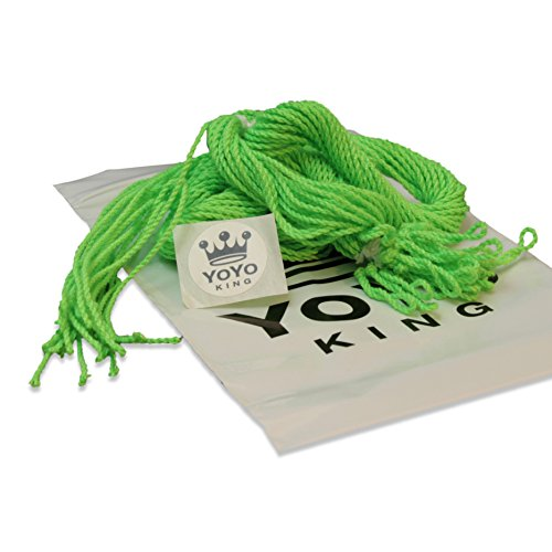 Yoyo King Pro 25 Pack of Neon Green 100 Percent Poly  Polyester Yoyo Strings