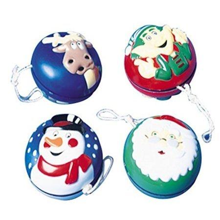 Lot Of 12 Assorted Christmas Theme Plastic YoYos - 2