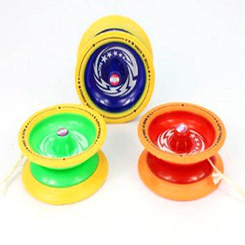 YOYOSTORE 1 Mix Color Magic Plastic Yo Yo Yoyo Ball Bearing Nylon Strings Xmas Toy Gift ---- Randomly Color