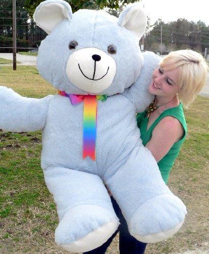 4 Foot Teddy Bear Soft Blue 48 Inch Giant Teddybear Made in USA America