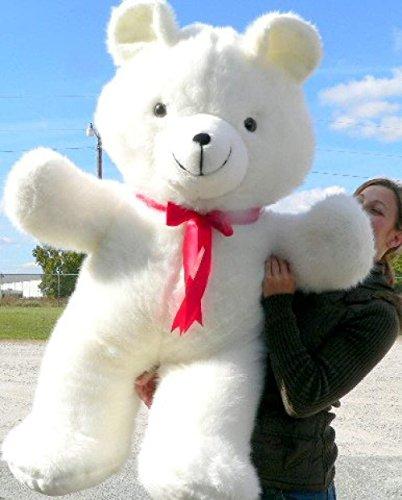 American Made Giant 4 Foot Teddy Bear Soft White 48 Inch Teddybear