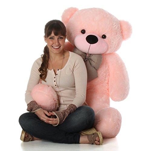 Giant Teddy Lady Cuddles Pink Plush Teddy Bear 47-Inch