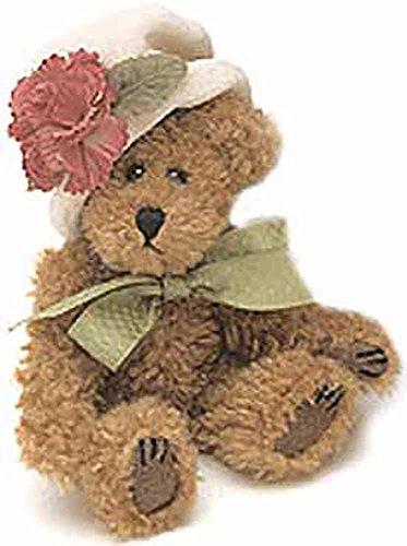 Boyds Bears Chenille Bear CARMELLA DE BEARVOIRE Style 918401 TJs Best Dressed Hat Lady Jointed Collectible Teddy Bear Retired - COLLECTORS DREAM