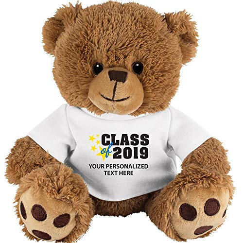 Crown Awards Personalized Teddy Bear Graduation Gift 10 Custom Class of 2019 Teddy Bear Shirt with Your Own Engraving Included