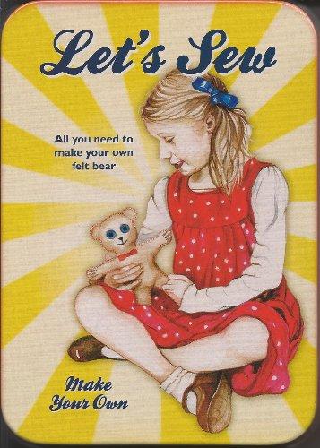 Lets Sew Make Your Own Felt Teddy Bear Kit in Medal Tin