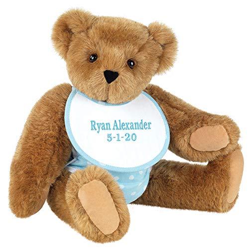 Vermont Teddy Bear Teddy Bears - Teddy Bears for Babies Custom 15 Inch Blue Classic