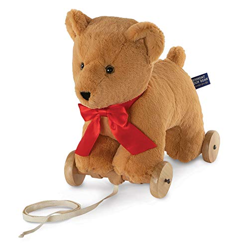 Vermont Teddy Bear Toddler Toys - Rolling Teddy Bear Pull Toy 12 Inch