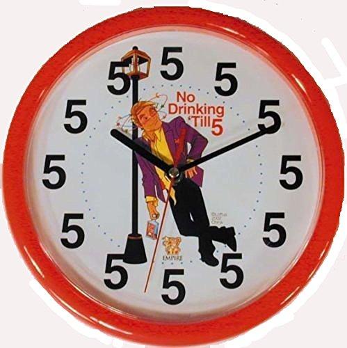 No Drinking Until 5 Oclock Brand New Joke Novelty Clock by Joke Items