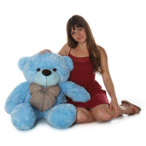 Happy Cuddles - 38 - Super Cute Huggable Giant Teddy bear Sky Blue Plush Bear