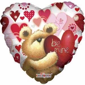 Single Source Party Supplies - 18 Huggable Bear Be Mine Mylar Foil Balloon