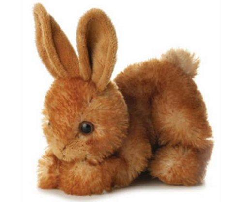 8 Brown Mini Flopsie Bitty Bunny Soft Toy