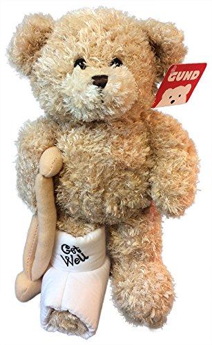Gund Break A Leg Jr 85 inch Get Well Teddy Bear with a Cast