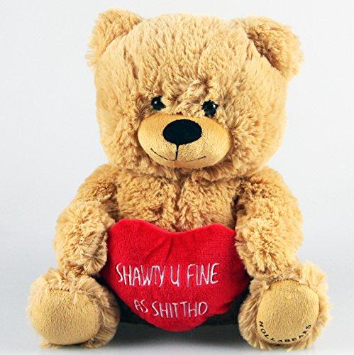 Hollabears 10 Shawty U Fine As Shit Tho Teddy Bear with High Standards Plush