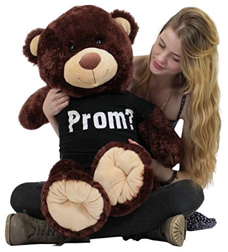 Prom Giant Teddy Bear 36 Inch Soft Wears Tshirt Will You Go To Prom With Me