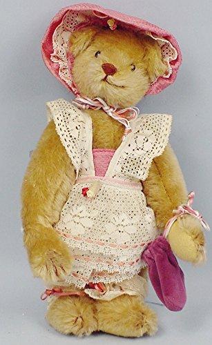 Gorham Mohair Vintage Victorian Teddy Bear ~ Music Box ~ Time Machine Teddies 1986 ~ Beverly Port
