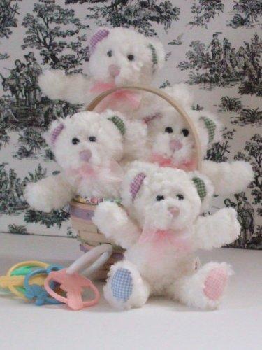 Bestever Teddy Bear Rattle White Gingham 7 by Bestever NEW IN STOCK