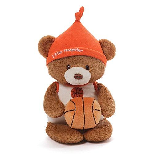 Gund Baby Teddy Bear and Rattle Little Hoopster Basketball