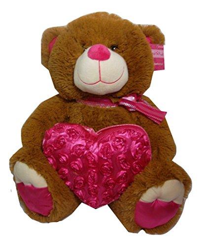 18 Brown Teddy Bear with Heart