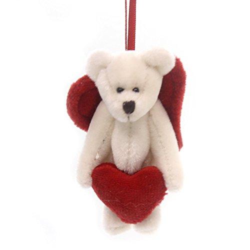 Boyds Bears Plush TRUELOVE F WUZZIE Fabric Teddy Bear Heart Mini Jointed 82000