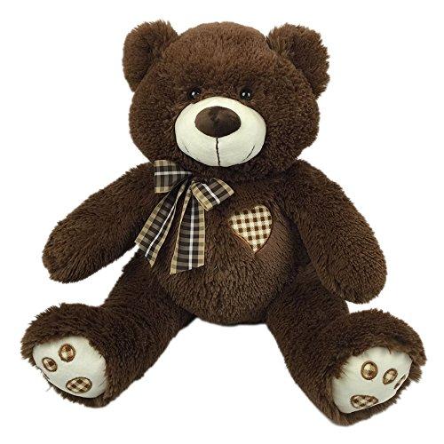 Comfy Hour 13 Sitting Teddy Bear with Heart Super Soft Cuddle Stuffed Animal Plush Toy Chocolate