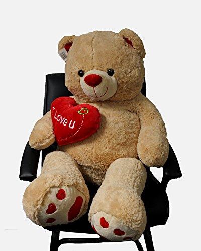 Jumbo 48 Teddy Bear with Heart
