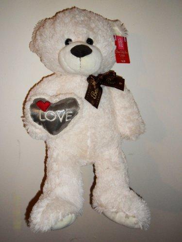 ivory Teddy Bear with Heart