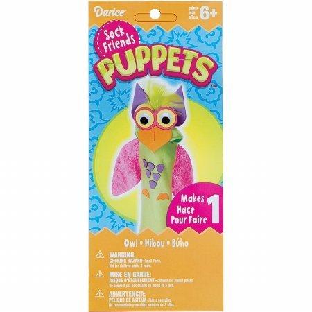 Darice SPD-112 Sock Puppet Kit-Owl