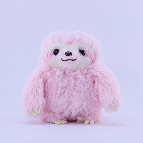 AMUSE Sloth Plush Namakemono Mikke Matarri Pink - Sloth Plush Ball Keychain 39 height - Authentic Kawaii from Japan