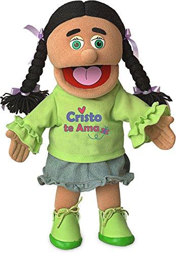 14 Cristo Te AMA Hispanic Girl Christian Ministry Hand Puppet