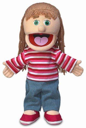 14 Emily Peach Girl Hand Puppet